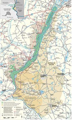 Karte des Nationalparks Unteres Odertal